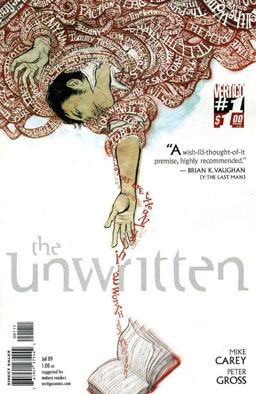 Cover to The Unwritten #1Art by Yuko Shimizu