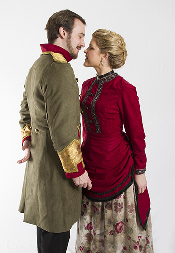 Count Vronsky (Scott Ward Abernethy) and Anna (Emily Grogan); photo by Alan Alabastro.