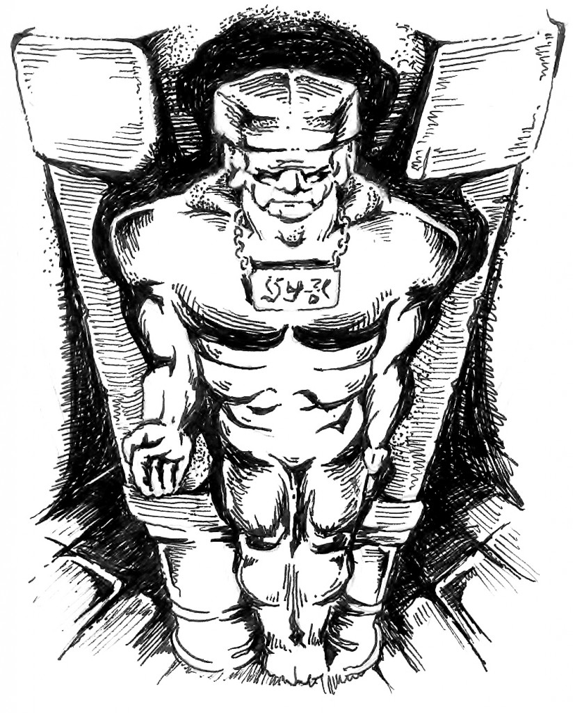 An illustration of the golem.