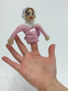 Jane Austen Finger Puppet (And magnet!).