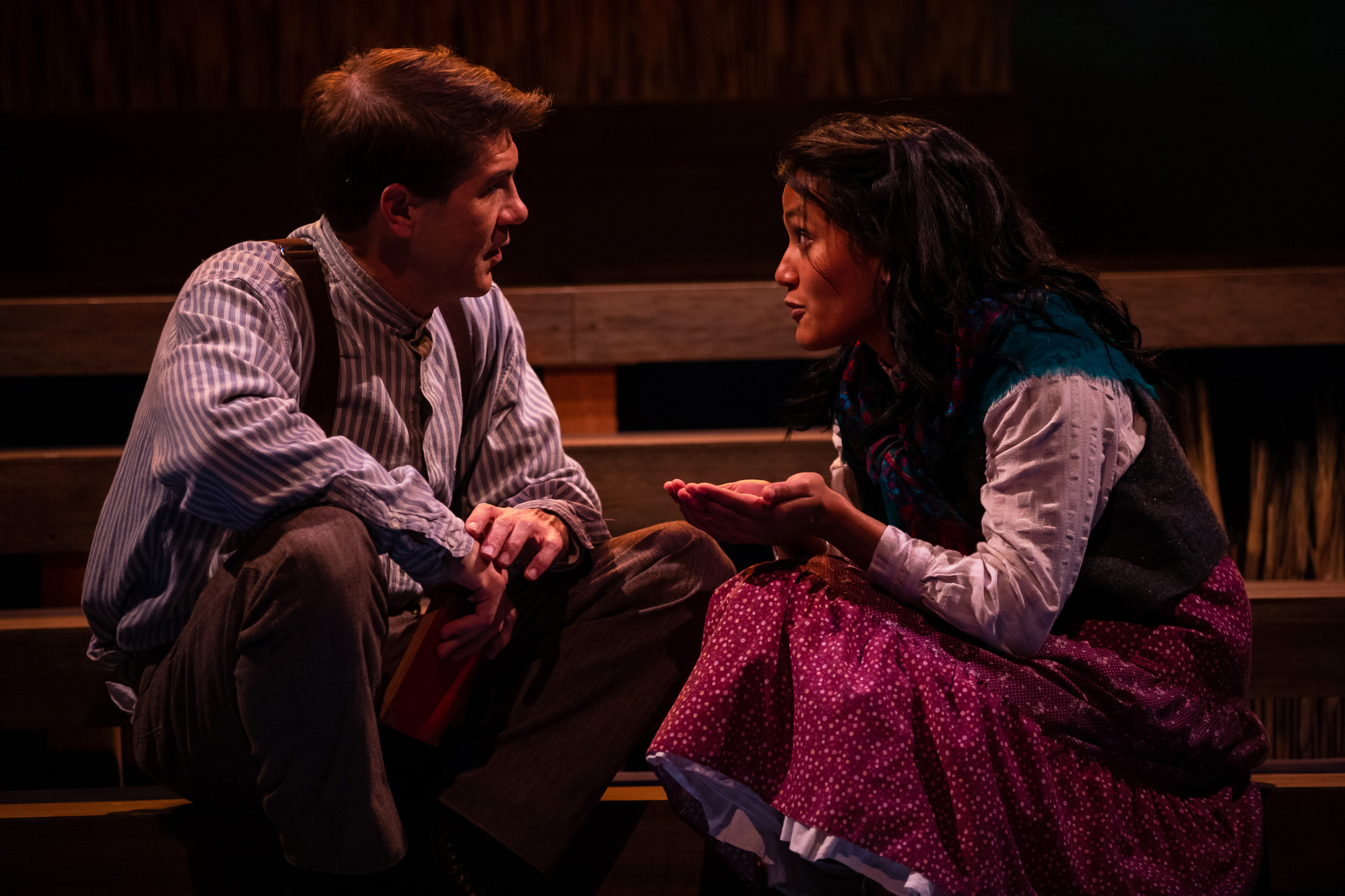 Tim Gouran (Jim Burden) and Nabilah S. Ahmed (Ántonia). Photo by John Ulman.