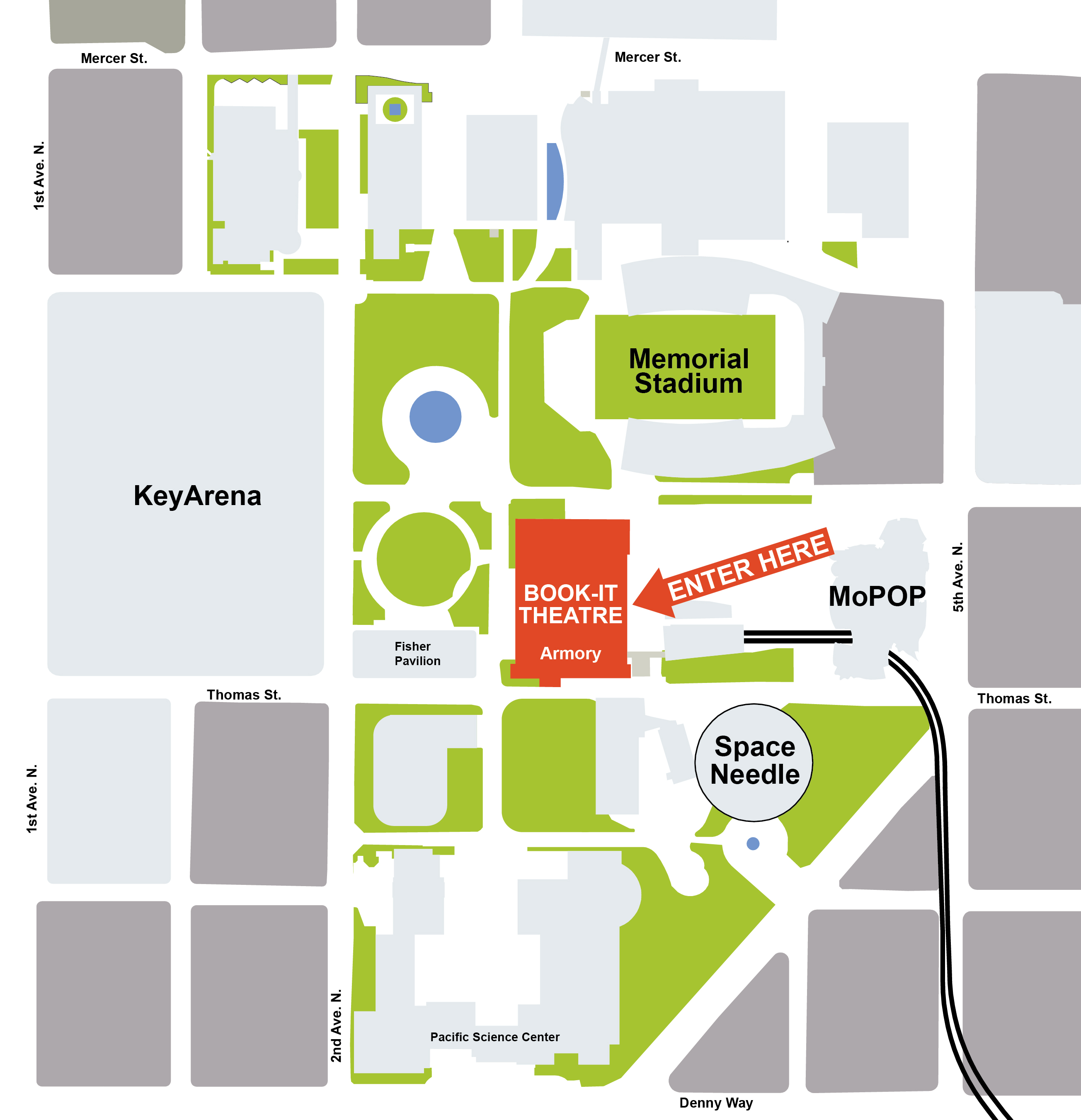Key Arena Seattle Map.Plan Your Visit Book It Repertory Theatre