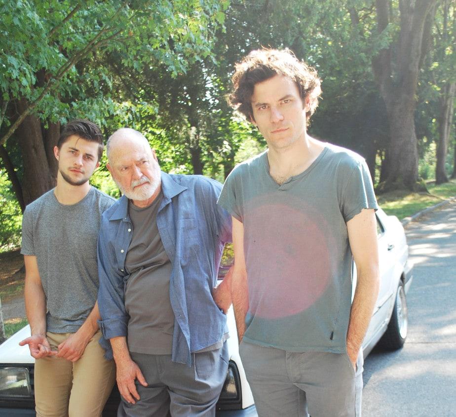 Peter Sakowicz (Alex/Ensemble), Michael Winters (Grandfather/Ensemble), and Sean Lally (Jonathan/Ensemble). Photo by Sasha Bailey.