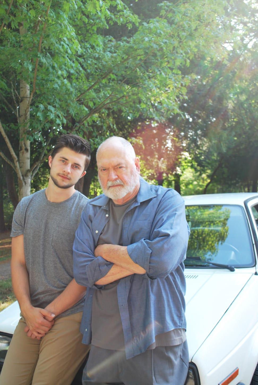 Peter Sakowicz (Alex/Ensemble) and Michael Winters (Grandfather/Ensemble). Photo by Sasha Bailey.