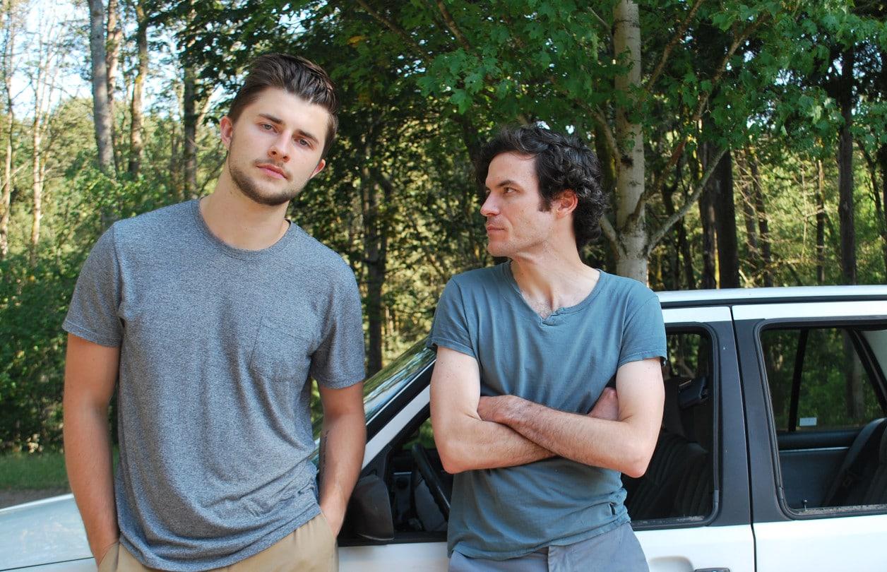 Peter Sakowicz (Alex/Ensemble) and Sean Lally (Jonathan/Ensemble). Photo by Sasha Bailey.